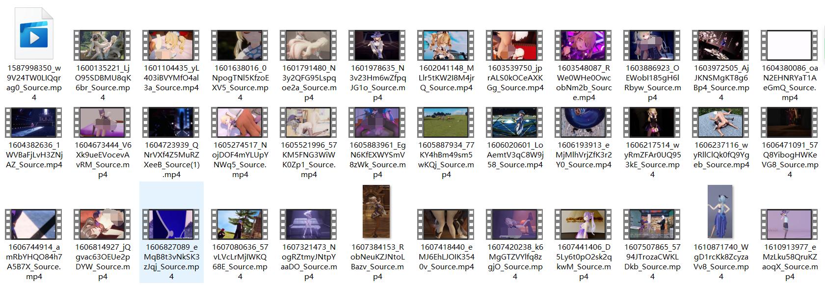 【R-18mmd】原神系列mmd(4.68GB)